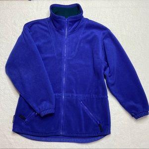 Vintage Columbia Jacket Fleece Purple Drawstring L